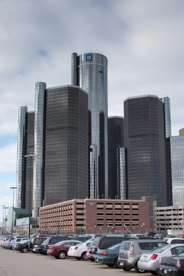 Renaissance Center in Detroit Michigan