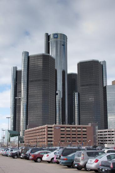 Renaissance Center in Detroit Michigan