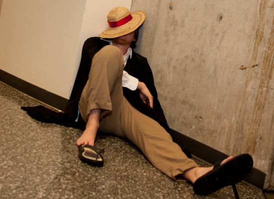 One Piece Sleeping Cosplayer