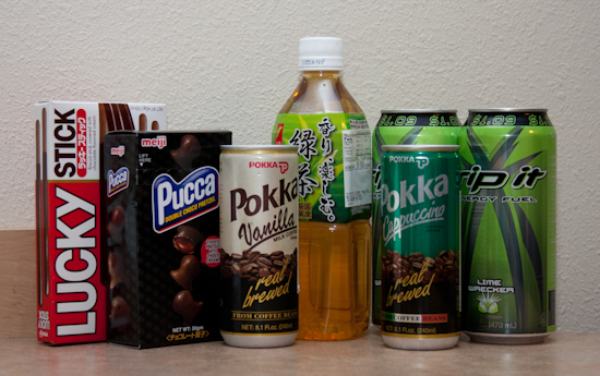 Snacks for Youmacon - Pucca, Pokka, Green Tea, Rip Its, Pocky